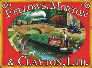Fellows, Morton And Clayton small steel sign 200mm x 150mm (og)